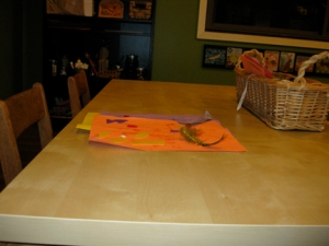 young child's art studio table